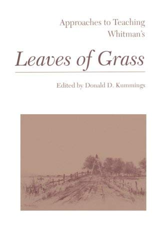 Image for Approaches to Teaching Whitman's Leaves of Grass (Approaches to Teaching World Literature)