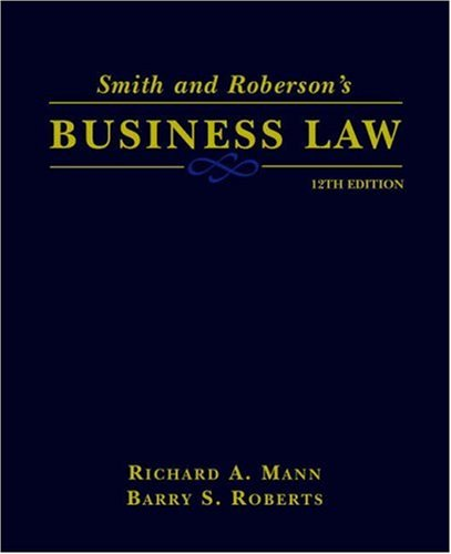 Image for Smith and Roberson's Business Law (Smith & Roberson's Business Law)
