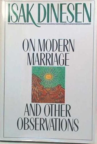 Image for On Modern Marriage: And Other Observations