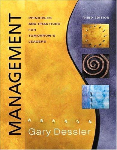 Image for Management: Principles and Practices for Tomorrow's Leaders, Third Edition (CD Included)