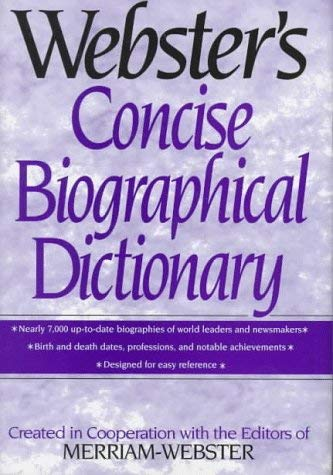 Image for Webster's Concise Biographical Dictionary