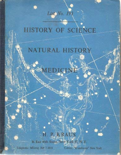Image for History of Science: Natural History: Medicine (H. P. Kraus: List No. 191)