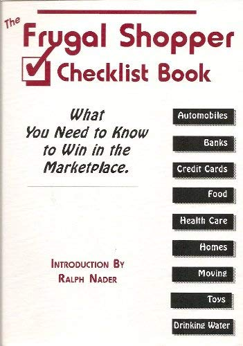 Image for The Frugal Shopper Checklist Book: What You Need to Know to Win in the Marketplace.