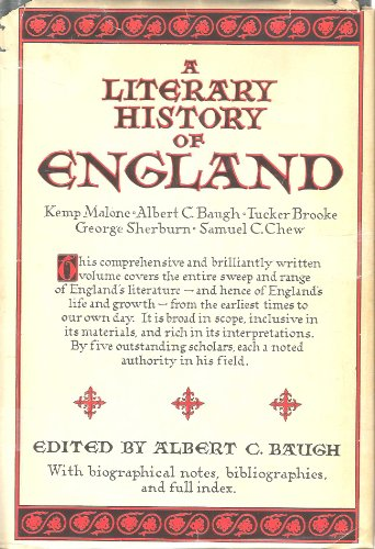 Image for A LITERARY HISTORY OF ENGLAND Four Volumes in One/Library Edition
