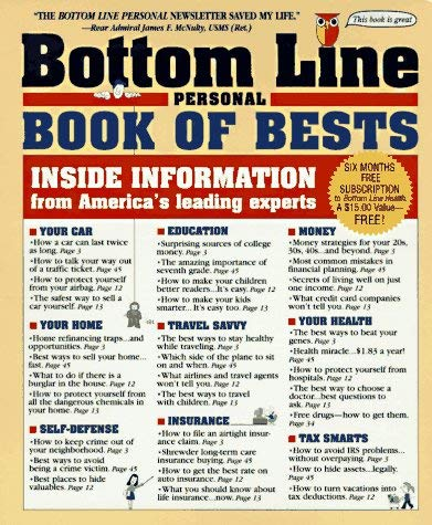 Image for The Bottom Line Personal Book of Bests: Inside Information from America's Leading Experts